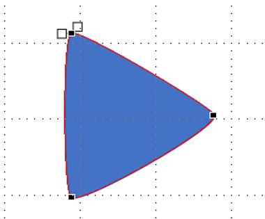 パワポ 三角形 丸み